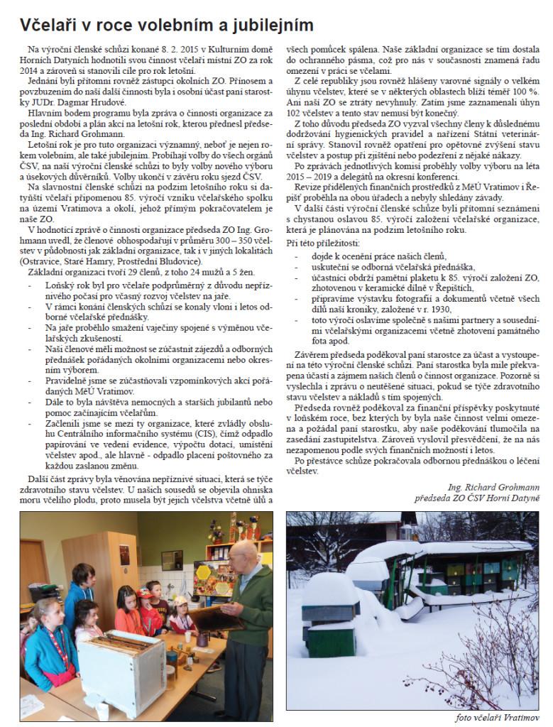 Vratimovske noviny březen 2015
